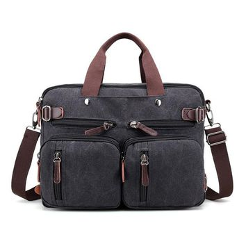 Cool Backpack school Men's Casual cool Canvas Travel Bags Large hand-held Vintage Luggage backpack Travel Duffle multi-function Handbag AT_52_3