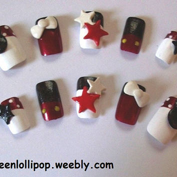 Japanese 3D Nail Art Set - Mickey Mouse
