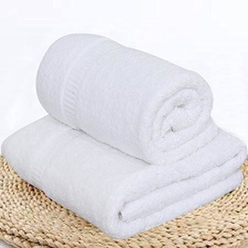 "Premium Bath Towels (2 Pack ,27""x50"", White) Machine Washable 100% Turkish Cotton 14 lb/dz Towel Set, Hotel Quality super Soft high Absorbant"