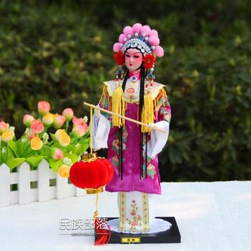 Unique Beautiful Ancient Chinese Silk matchmaker Sculptures Beijing Fork art Home Decration Crafts