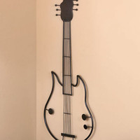 Metal Electric Guitar Shaped Wall Decor Musical Art Musician Music Lover Band