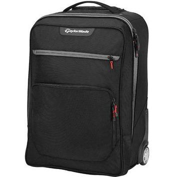 Licensed Golf TaylorMade Men's Players Rolling Carry On Bag - Suitcase - Black/Grey/Red