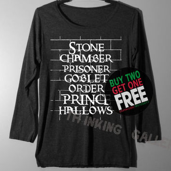 Stone Chamber Prisoner Shirt Harry Potter on the Wall Shirts Long Sleeve TShirt T Shirt - Size S M L