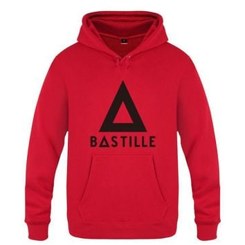 Mens Hoodies Coachella BASTILLE Printed Hoodie Men Fleece Long Sleeve Skate Men's Sweatshirt Hip Hop Pullover Moleton Masculino