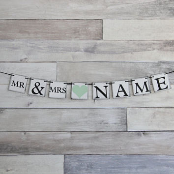 Wedding Banner Decoration - Mr and Mrs - Bachelorette Party - Custom Banner