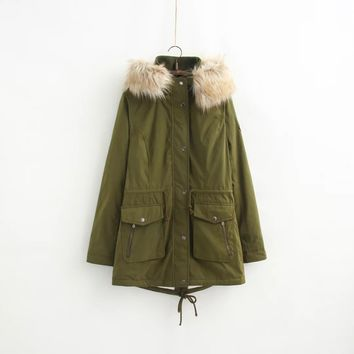 fashion lady winter coat jacket stock