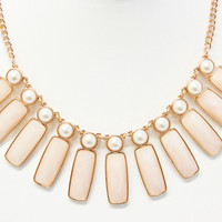 Light Peach Panel Necklace Set