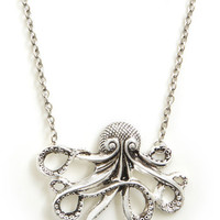 ModCloth Nautical My Pet Octopus Necklace