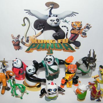 Kung Fu Panda 3 Movie Figure Set of 13 with Po, the Furious 5 and New Characters