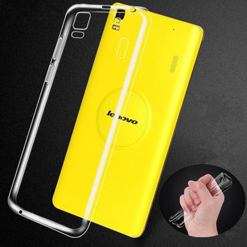 new Silicone Clear Transparent Crystal Soft Case cover For Lenovo vibe P1m