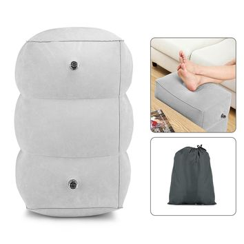 HM021 Travel Inflatable Adjustable Height Foot Rest Pillow for Kids Adult