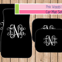 Monogrammed Car Mat Set Personalized Front Car Mats Car Accessories Choose Colors MONOGRAM