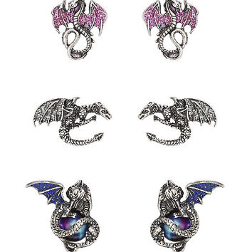 LOVEsick Dragon Earrings 3 Pair