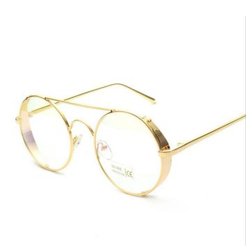 Dokly Brand clear sunglasses Men glasses Classic round Glasses Male Eyewear Gafas Retro sun glasses Men