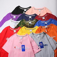 Champion Classic Embroidery Multicolor Logo Tee