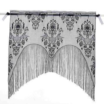 Halloween Party  Decoration Props Black Lace Spiderweb Fireplace Curtain Mantle Scarf Cover Tablecloth Festive Party Supplies