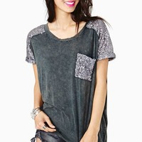 Glitch Sequin Tee