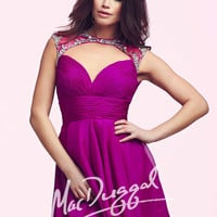 Mac Duggal 64883 - Magenta Beaded Open Back Homecoming Dresses Online