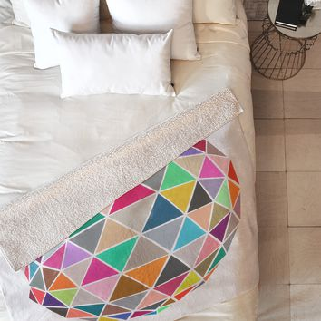 Garima Dhawan Geodesic 1 Fleece Throw Blanket