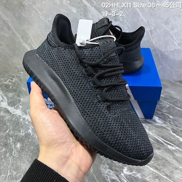 HCXX A736 Adidas Tubular Shadow PK Simmplified edition Yeezy Running Shoes Black