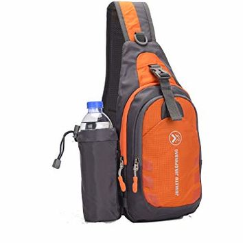 Sling Bag backpack Outdoor Shoulder Waterproof Unbalance Crossbody Bag Chest Pack Bike Orange