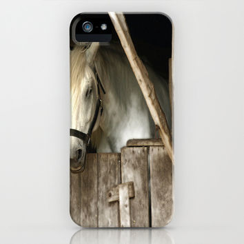 Horse Barn iPhone & iPod Case by Raymond Earley