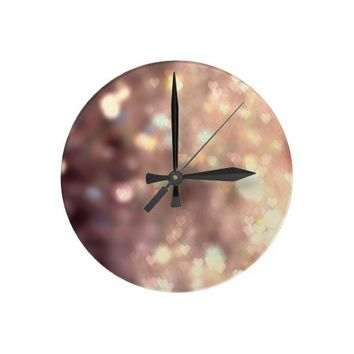 Glitter in your Heart Wall Clock from Zazzle.com