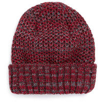 RED TEXTURED FISHERMAN RIB BEANIE - Winter Accessories - Shoes and Accessories
