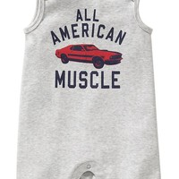 Old Navy Muscle Car Sleeveless One Pieces For Baby