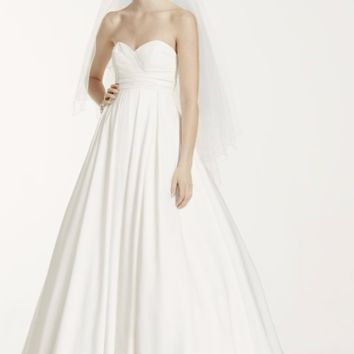Sweetheart Wedding Dress with Pleated Empire Waist - Davids Bridal