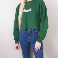 Vintage University of Hawaii Cropped Hoodie Sweatshirt