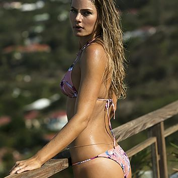 Tori Praver Swimwear Lacie Bottom in Bali Pink
