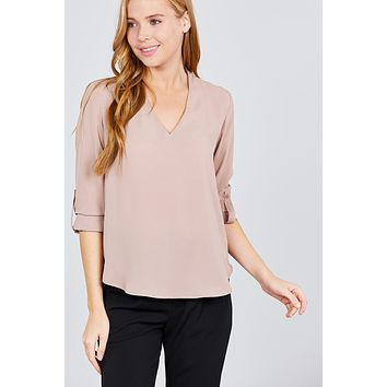 Business Babe Top - Taupe