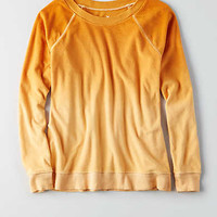 AEO Soft & Sexy Terry Sweatshirt , Orange
