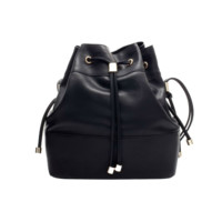 Pleather Drawstring Pouch Bag
