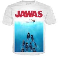 Star Wars JAWAS shirt making fun of jaws