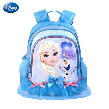 School Backpack Disney 2018 Frozen Princess School Bags Protect the Spine Backpacks Fashion Schoolbag Kids Backpack Preschool Bags for Girls AT_48_3