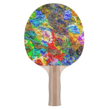 Color palette Ping-Pong paddle