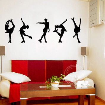 Vinyl Wall Art Wall Stickers Figure Skating Vinyl Wall Art Decal Size 35 x 116 CM