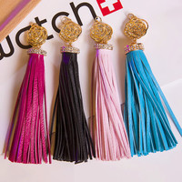 Bling Rose Flower Long PU Tassels for Jewelry Making