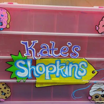 Shopkins Carry Case, Custom Shopkinz Case, Shopkinz Container