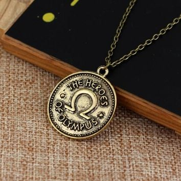 dongsheng Vintage Accessories Percy Jackson Camp Half Blood The heroes of olympus ivlivs coin Pendants Necklaces