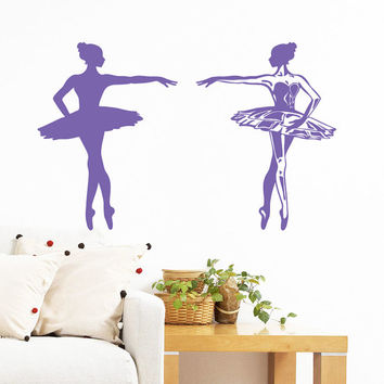 Wall Decal Vinyl Sticker Decals Home Decor Mural Ballerina Acrobatics Girl Ballet Dancer Gymnastics Sport Jump Bedroom Dance Studio AN203