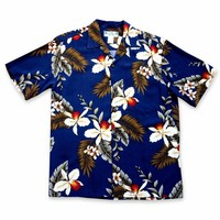 Majestic Blue Hawaiian Rayon Shirt