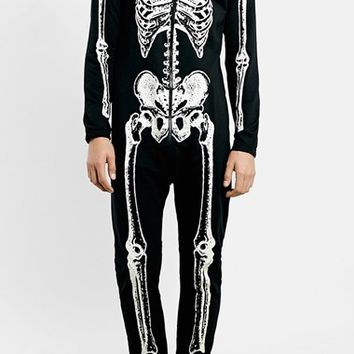 Topman Skeleton Print Jumpsuit