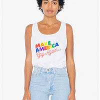 'Make America Gay Again' Poly-Cotton Tank Top | American Apparel