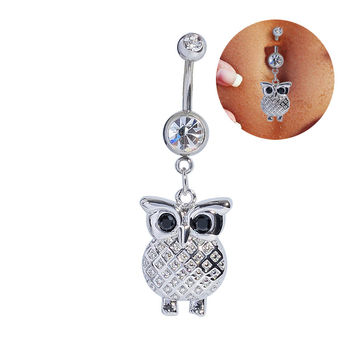 Hot Sale Navel Rings Owl Accessory Belly Ring [6768807303]
