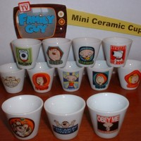 Family Guy Mini Cup/Mug Set of 12