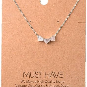 Must Have-Triple Heart Necklace, Silver