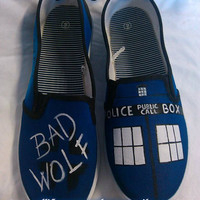 Custom Hand Painted Doctor Who Inspired Shoes